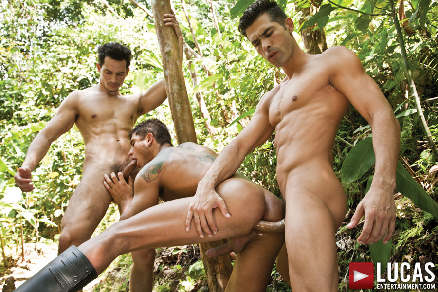 Threesome in forest think, that