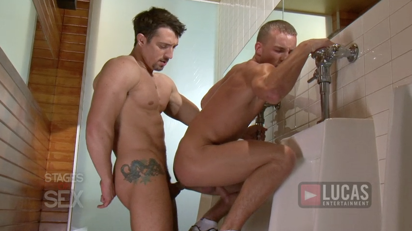Jimmy Durano slams Alex Andrews' eager ass in public!