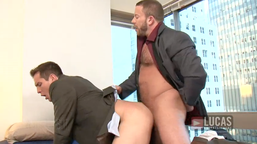 Wall Street Men Dylan Roberts and Shay Michaels Pound Ass