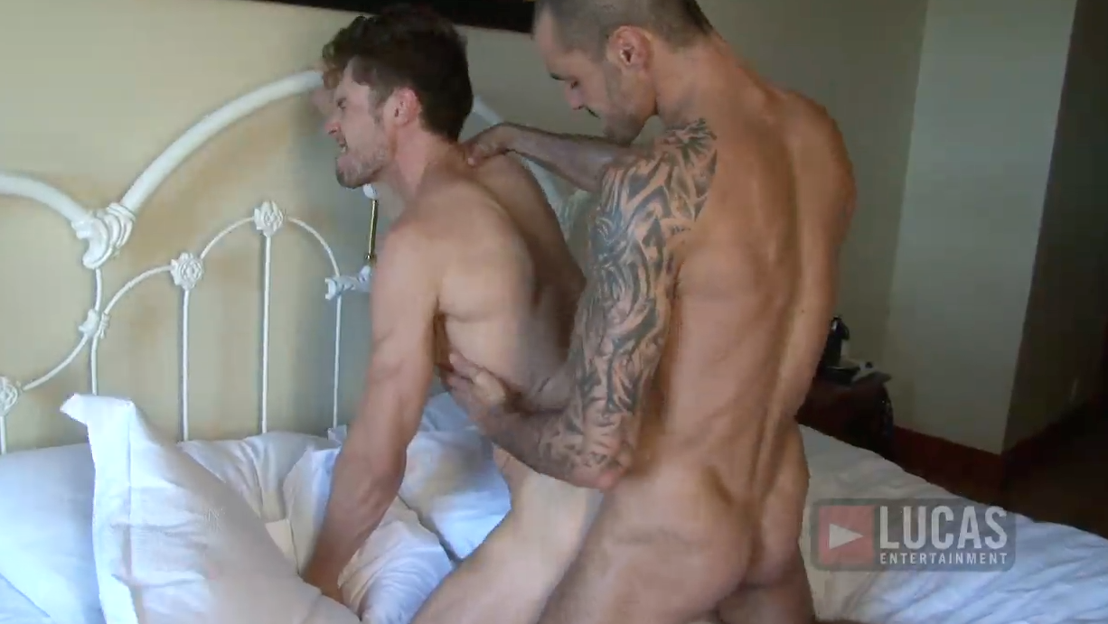 Adrian Long Bottoms for Issac Jones' Uncut Cock