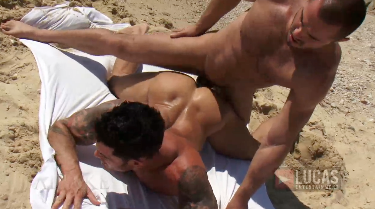 Jessy Ares Tops Mitchell Rock's Ass on the Beach