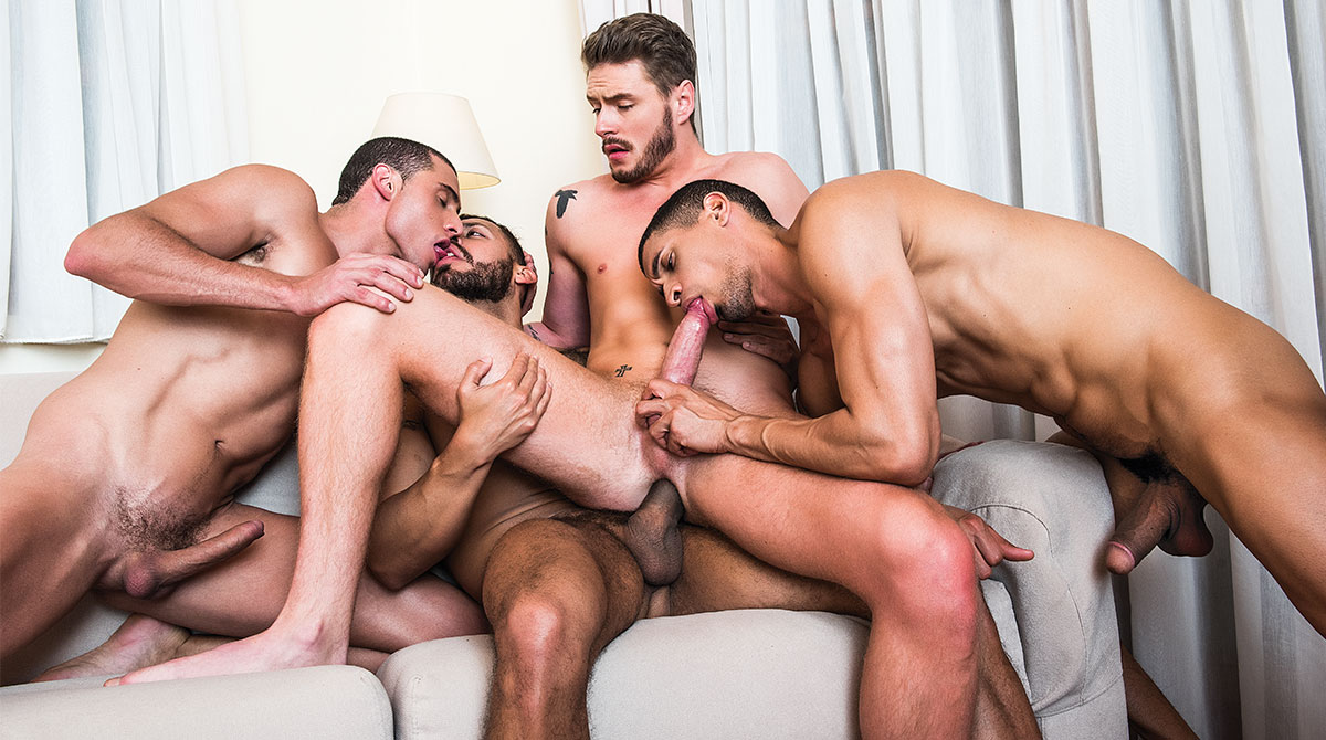 3 Dick Penetration Gay Porn - Ibrahim Moreno Takes On Three Uncut Cocks @ Lucas Entertainment | gaytumb