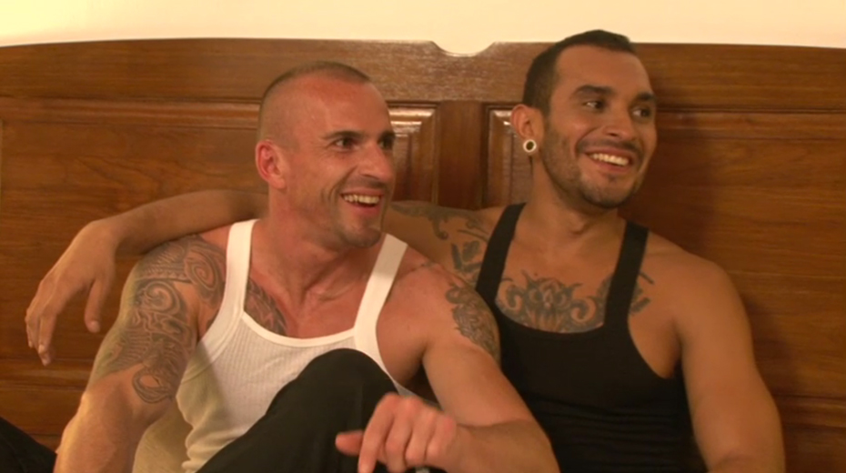 Pornstars Lucio Saints and Kriss Aston Talk Porn Before Sex