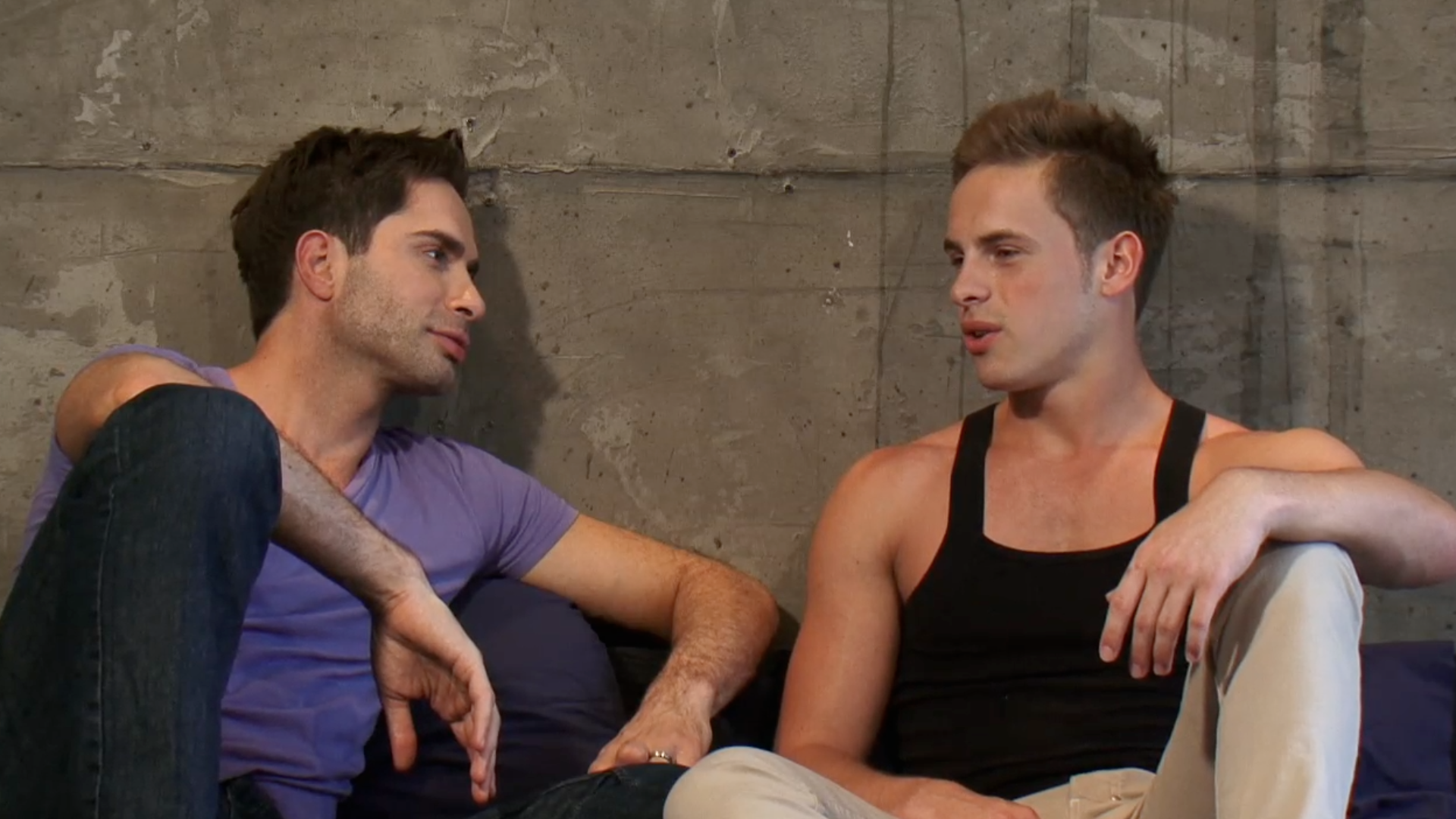 On Set Exclusive – Michael Lucas interviews blonde newbie Justin Cruise!