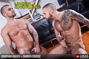 London Showers scene 5 - Damien Crosse and Jonathan Agassi splash in piss!