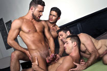 Dato Foland Returns To Lucas Entertainment In A Gay Bareback Sex Foursome