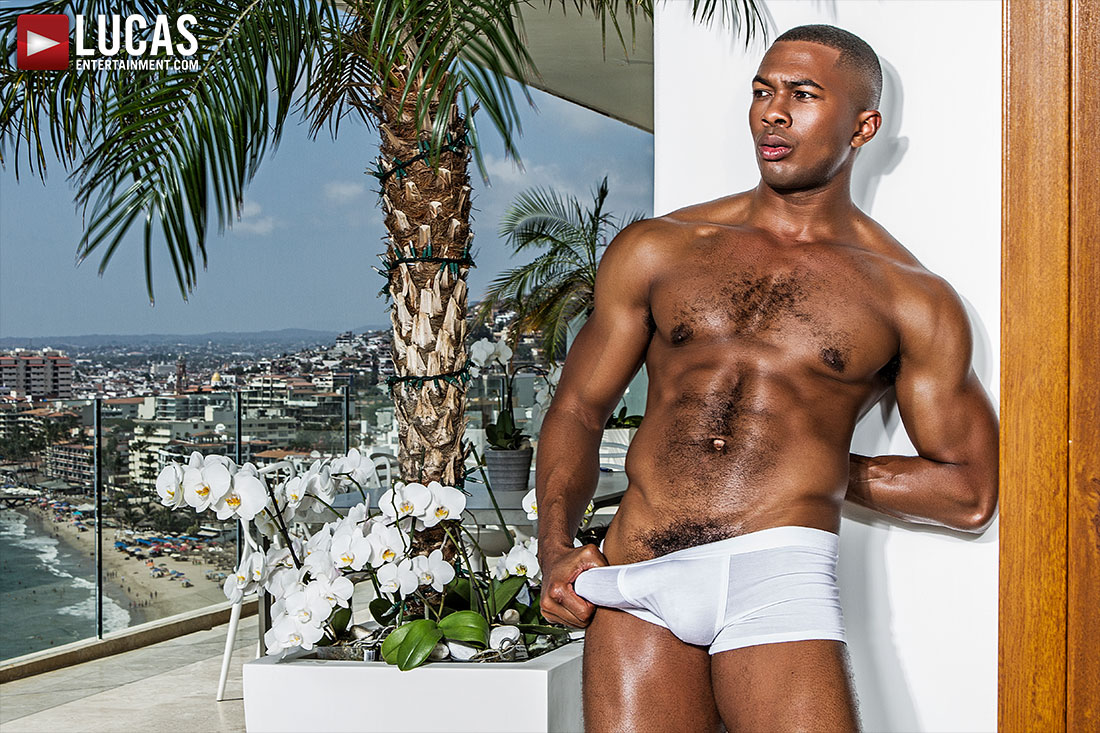 Sean Xavier Looks Incredible Wearing White