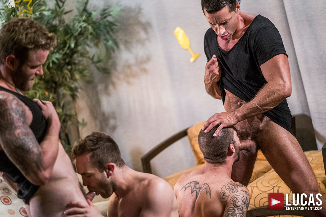 Celebrate New Year's With A Bareback Foursome