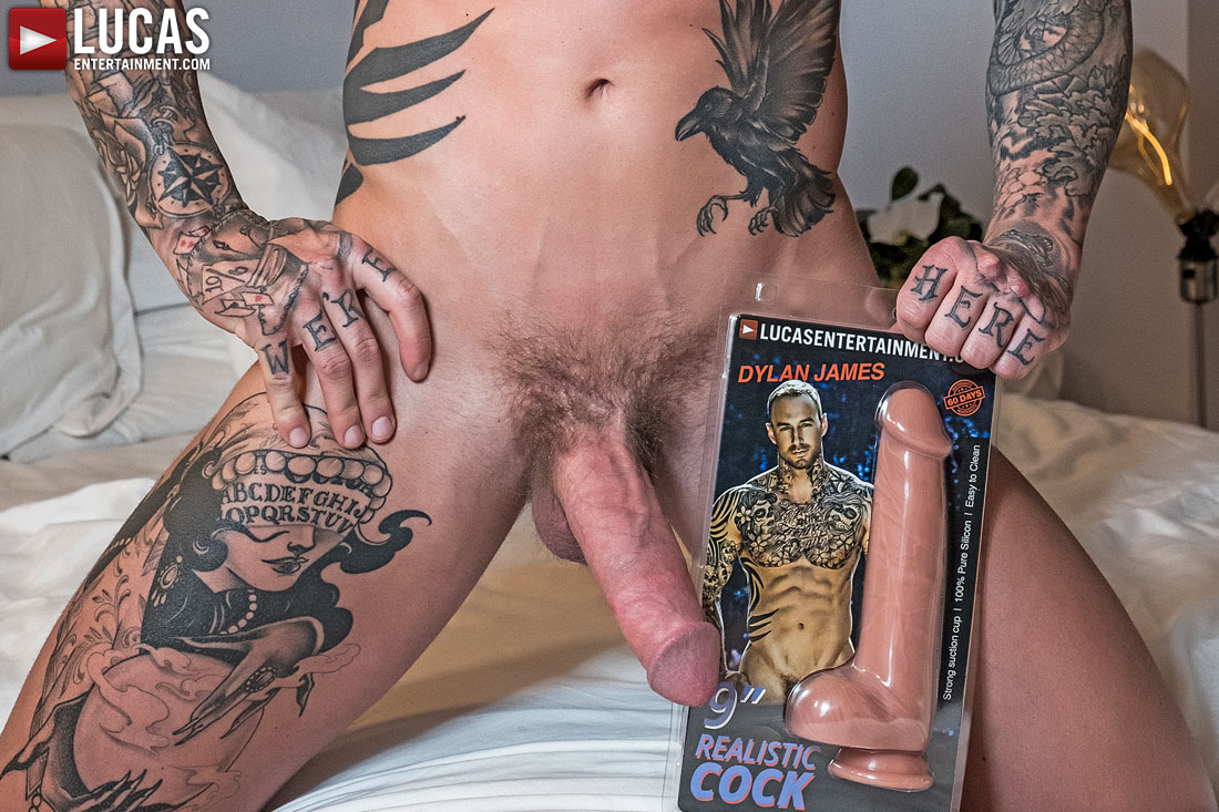 Dylan James Models His New Dildo