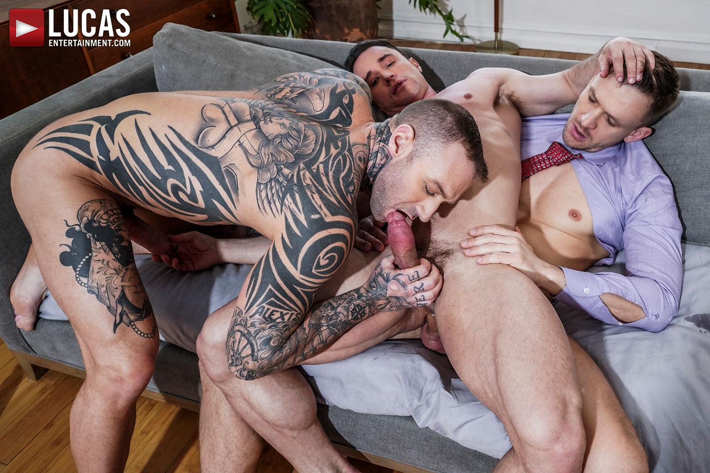 Three Sexy Gay Porn Stars, One Incredible Scene
