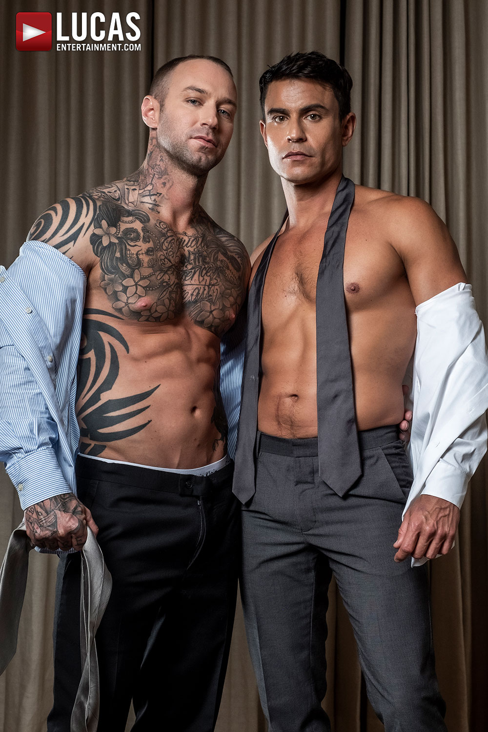 Dylan James And Rafael Carreras On The Set After Fucking