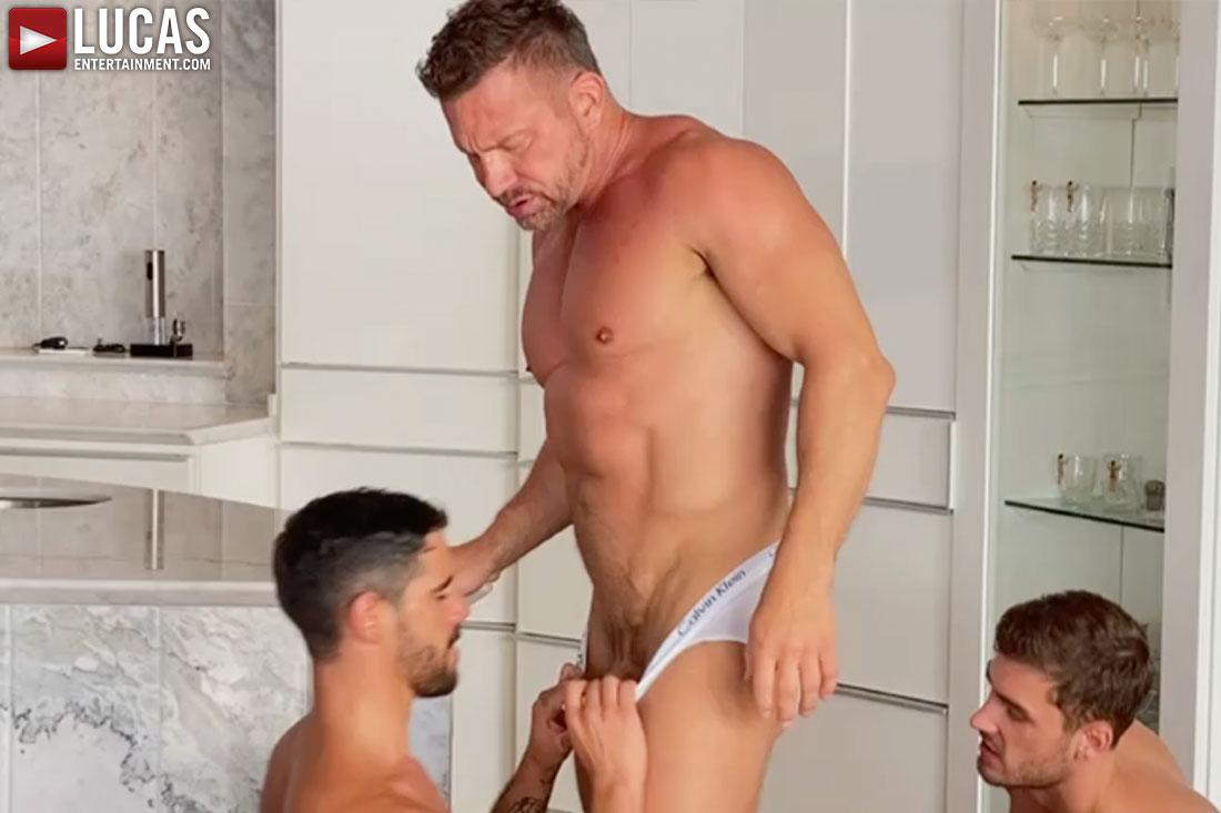 Tomas Brand Enjoys Both Valentin Amour And Craig Marks   On The Set